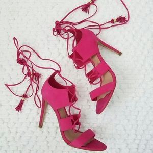 Aldo Hot Pink Lace Up Stilettos!!